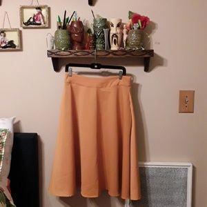 Pin Up Gold Yellow Full Skirt Large